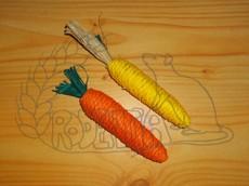 Sisalová mrkvička a kukuřice - okusovadla 2 ks