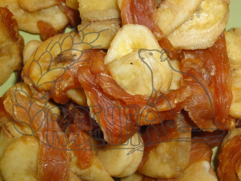 Sušené kuřecí maso s banánem 100 g