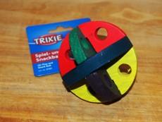 Dřevěný míček na pamlsky 8 cm