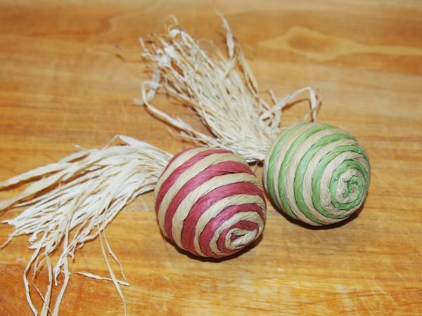 Sisalové okusovací míčky - 2 ks