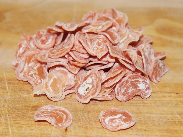 Dukáty ze sušeného lososa s treskou 25 g