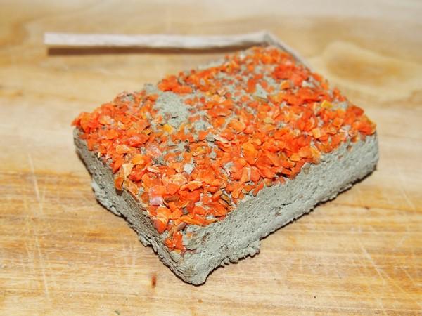 Jílová cihlička s mrkví - 100 g