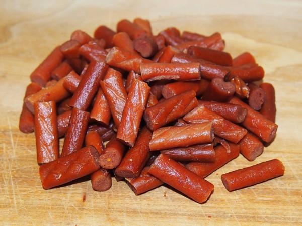 Kuřecí mini tyčinky s dýní a rajčaty 100 g