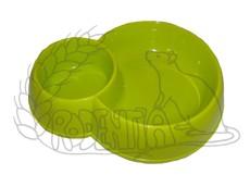 Dvojmiska plast 170 + 450 ml