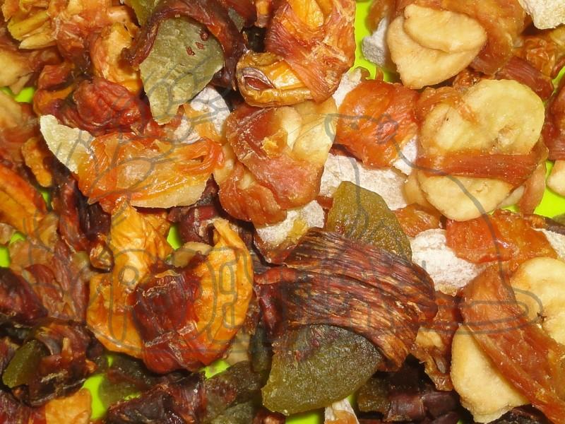Směs sušeného kuřecího masa s ovocem 50 g