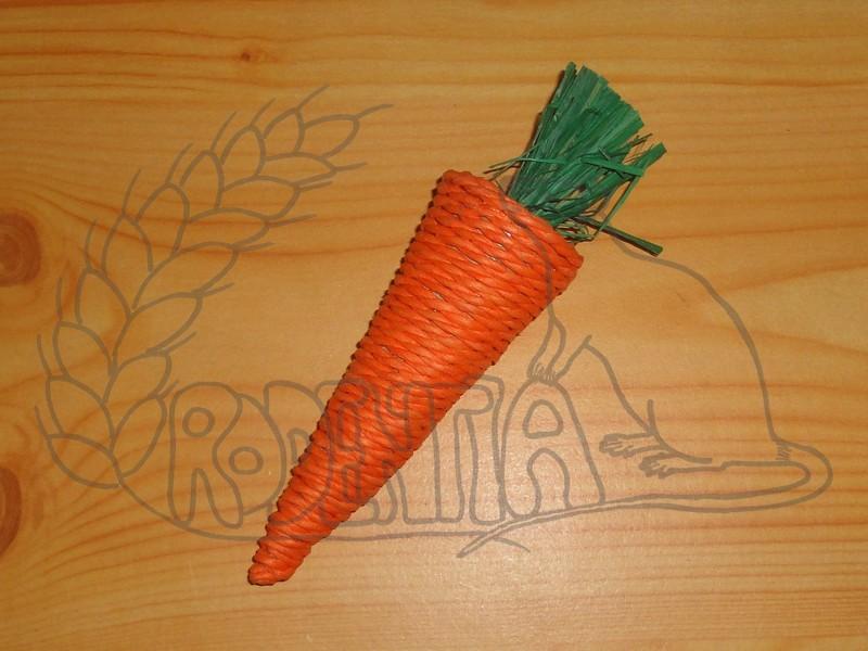 Sisalová mrkvička - okusovadlo 20 cm