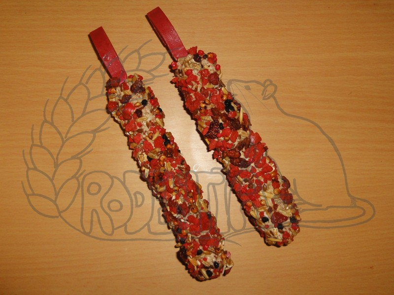 Hryzací tyčinky jahodové - 2 ks