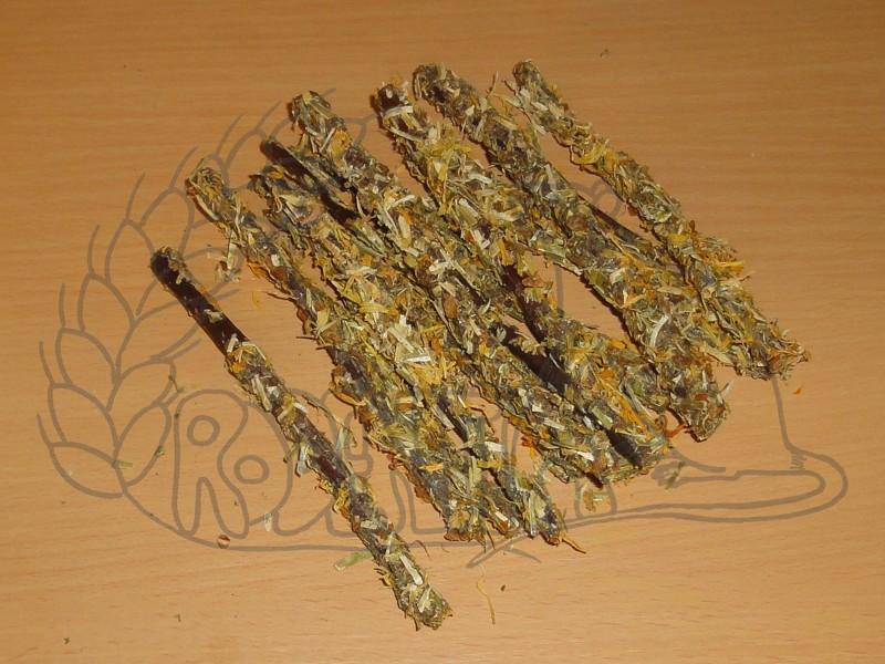 Okusovací větvičky s mrkví a okvětními lístky 35 g