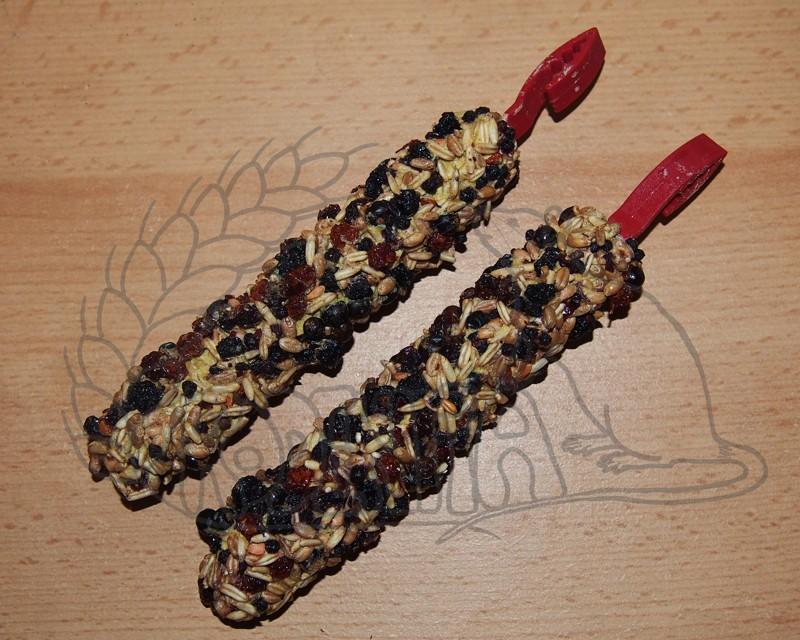 Hryzací tyčinky s lesními plody - 2 ks