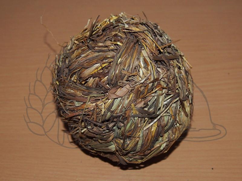 Míček z trávy s rolničkou 10 cm